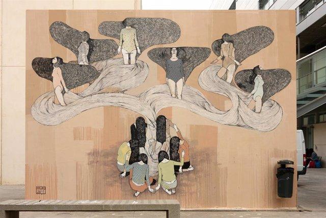 Archivo - Poliniza Dos, el encuentro de arte urbano de la Universitat Politècnica de València (UPV), regresa tras el parón del año pasado (motivado por la pandemia) con una edición especial dedicada a la artista argentina Hyuro
