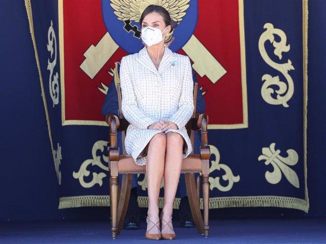 La Reina Letizia ha lucido uno de los vestidos más significativos de su vestidor