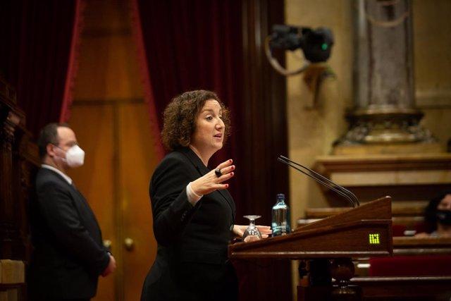 Archivo - Arxiu - La diputada del PSC, Alícia Romero, al Parlament.