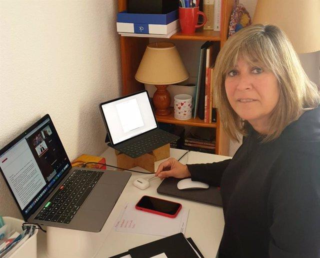 La presidenta de la Diputació de Barcelona, Núria Marín, intervé telemàticament en la inauguració de la jornada virtual 'L'aplicació de la Carta Europea de l'Autonomia local a Espanya. Els reptes de la democràcia i l'autogovern local'.