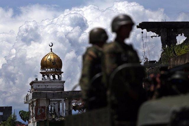 Archivo - La ciudad de Marawi, en la región de Mindanao, dos años después del asalto por parte de milicianos de un grupo leal a Estado Islámico