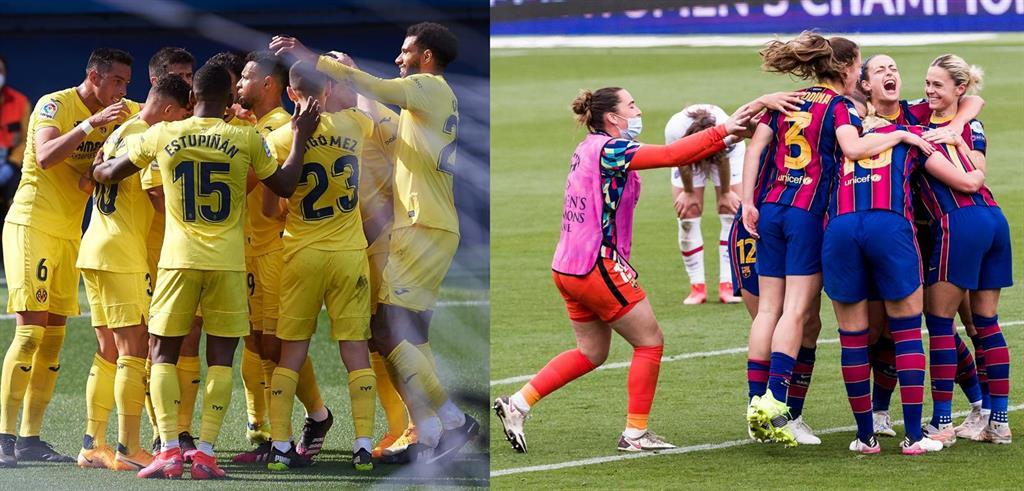 Villarreal y el FC Barcelona femenino contra el triplete inglés