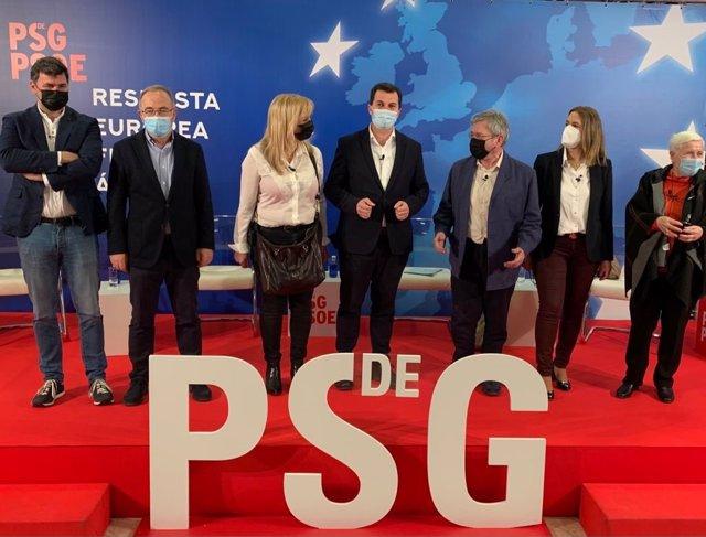 Acto organizado por el PSdeG en Santiago de Compostela con motivo del Día de Europa