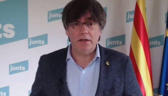 Archivo - Arxiu - L'expresident de la Generalitat i líder de Junts, Carles Puigdemont