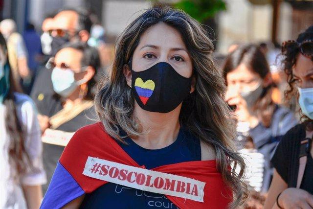 Manifestación contra el Gobierno colombiano
