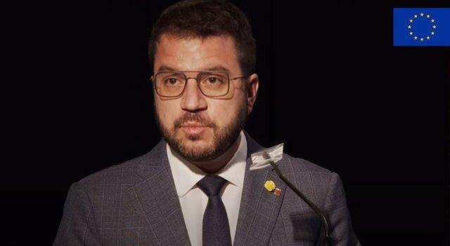 Archivo - Arxivo - El vicepresident de la Generalitat en funcions i candidat d'ERC a la Presidència, Pere Aragonès