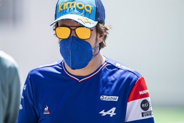 ALONSO Fernando (spa), Alpine F1 A521, portrait during the Formula 1 Aramco Gran Premio De Espana 2021 from May 07 to 10, 2021 on the Circuit de Barcelona-Catalunya, in Montmelo, near Barcelona, Spain - Photo Xavi Bonilla / DPPI