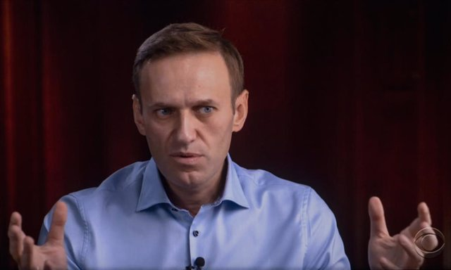 Archivo - Arxiu - Alexei Navalni en una entrevista amb la televisió nord-americana a l'octubre de 2020