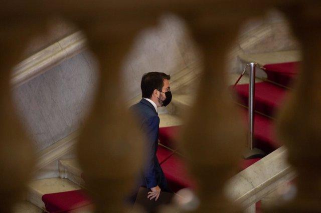 Archivo - Arxiu - El vicepresident de la Generalitat en funcions i candidat d'ERC a la presidència, Pere Aragonès.