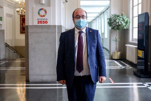 Arxiu - El ministre de Política Territorial i Funció Pública, Miquel Iceta.