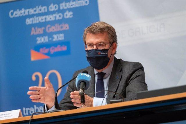 El presidente de la Xunta de Galicia, Alberto Núñez Fejóo.
