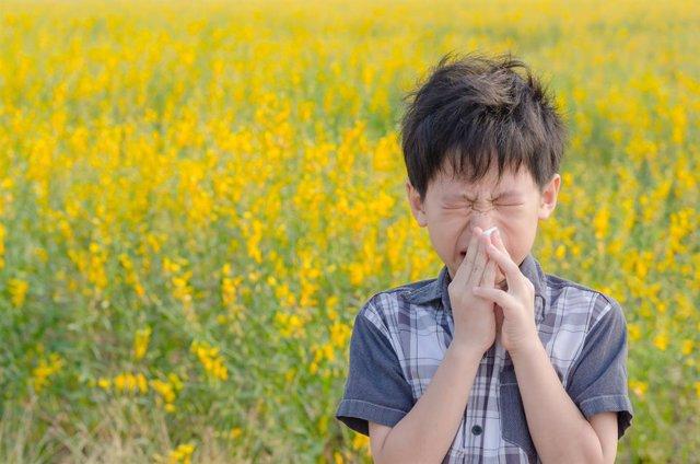 Archivo - Alergia al polen, primavera, estornudo