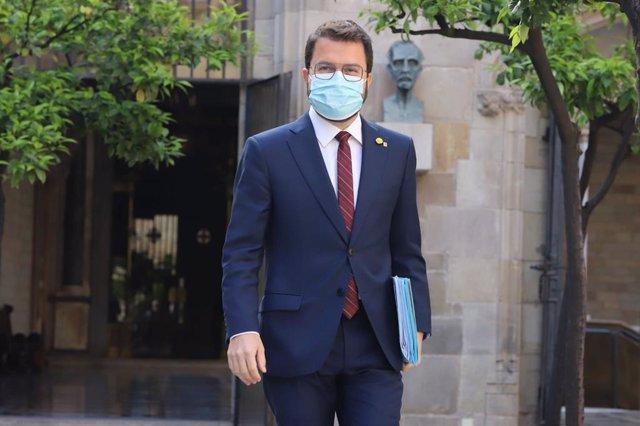 Arxiu - El vicepresident del Govern en funcions, Pere Aragonès, abans del Consell Executiu del 4 de maig.
