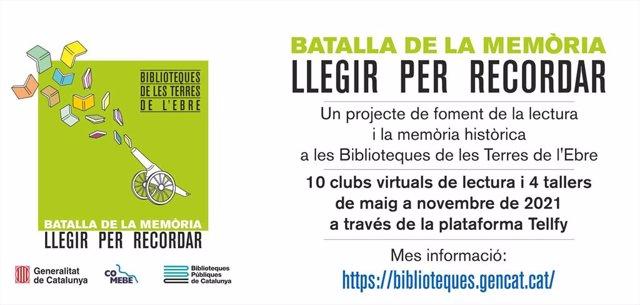 Programa de foment de la lectura i la memòria històrica 'Batalla de la memòria: llegir per recordar', de la Conselleria de Justícia.