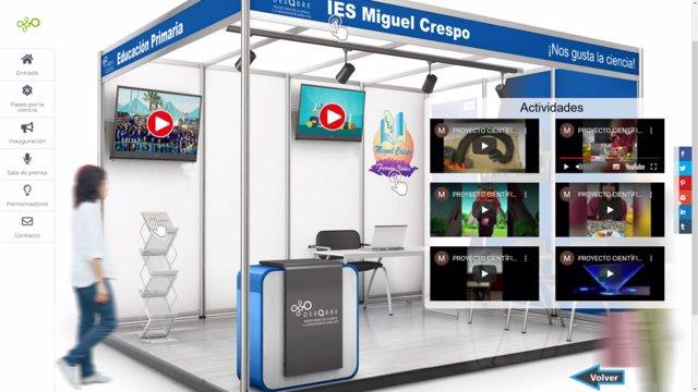 Un estand virtual en el 'Paseo por la Ciencia de Córdoba'.