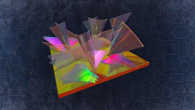 Las láminas 2D se cruzan y se retuercen unas sobre otras, modificando el panorama energético de los materiales.