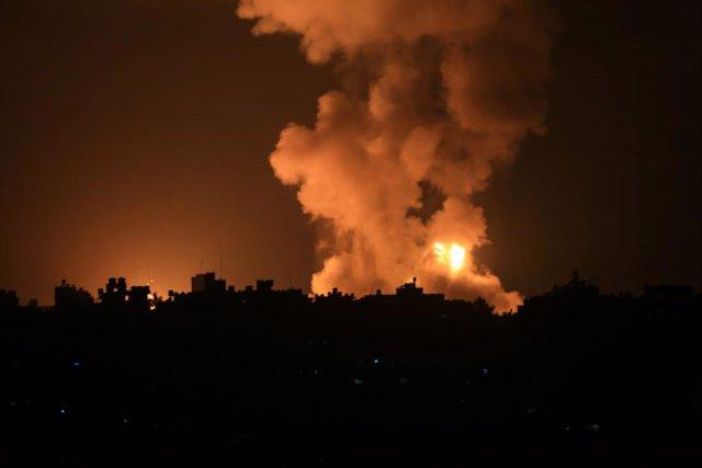 Bombardeigs d'Israel contra la Franja de Gaza.