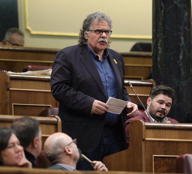 Archivo - Arxiu - L'exportaveu d'ERC al Congrés dels Diputats Joan Tardà.