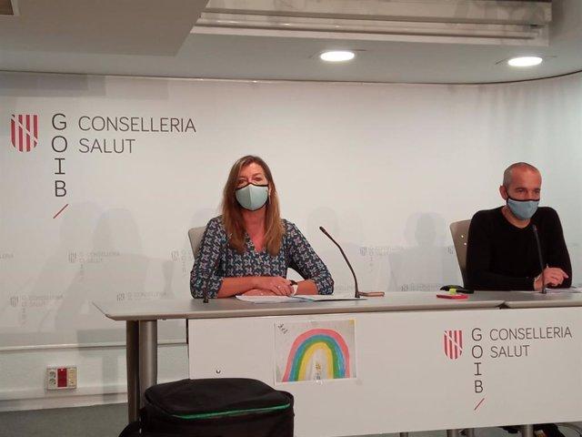 La consellera de Salud y Consumo, Patricia Gómez, y el coordinador autonómico de Salud Mental, Oriol Lafau.