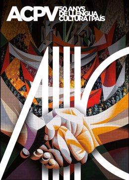 Cartell del 50 aniversari d'Acció Cultural