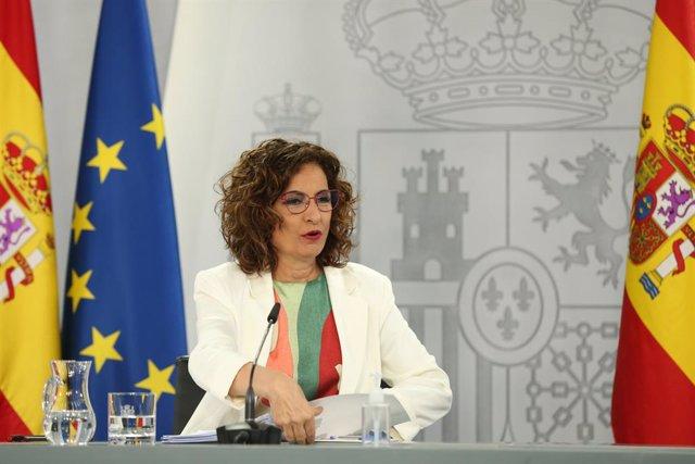 Arxiu - La ministra portaveu i d'Hisenda, María Jesús Montero.