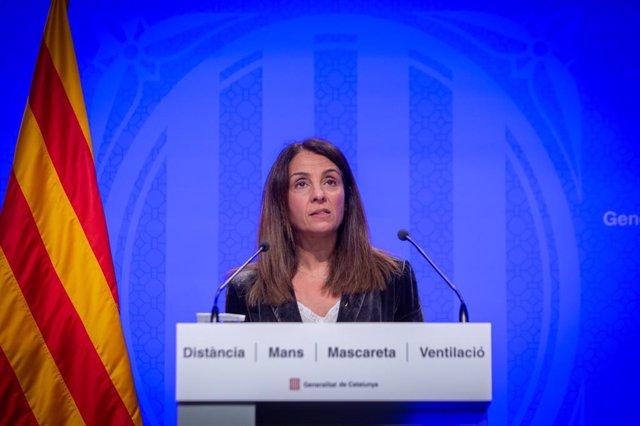 La portaveu del Govern en funcions, Meritxell Budó.