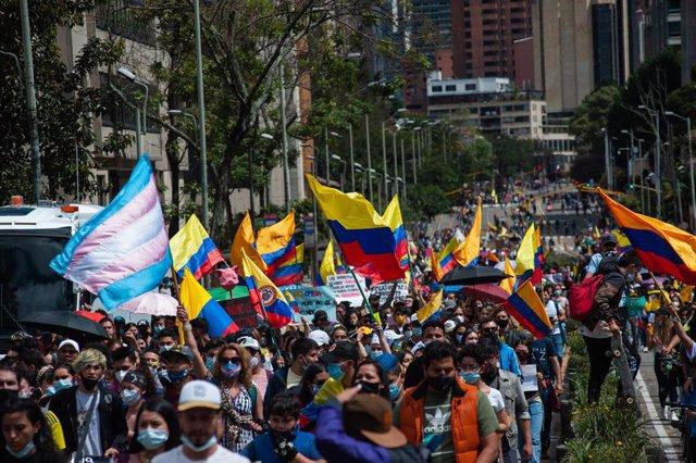 Arxiu - Protestes contra el Govern de Colòmbia a Bogotà.