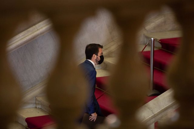 Archivo - Arxiu - El vicepresident de la Generalitat en funcions i candidat d'ERC a la Presidència, Pere Aragonès