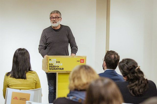 Archivo - Arxiu - El diputat de la CUP al Parlament, Carles Riera.