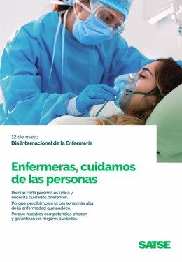 Cartel Día Internacional de la Enfermería 2021.