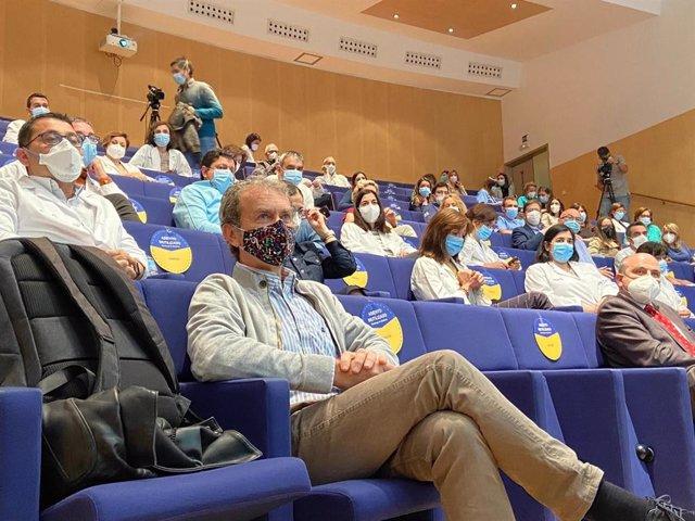 El director del Centro de Coordinación de Alertas y Emergencias Sanitarias, Fernando Simón, antes de participar en una conferencia en Ciudad Real
