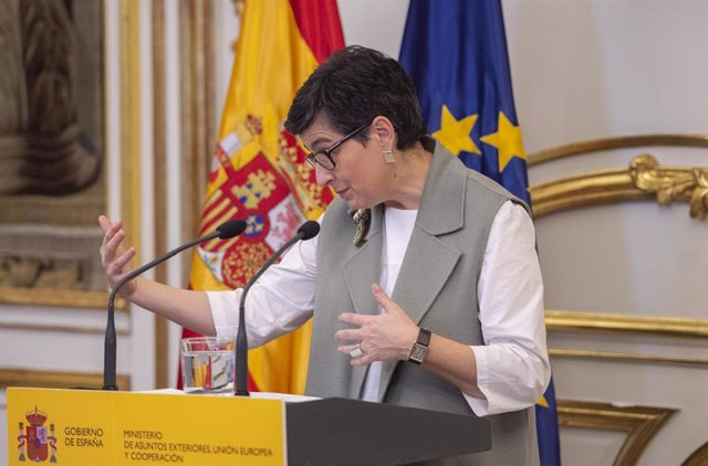 Archivo - Arxiu - La ministra d'Afers Exteriors, Unió Europea i Cooperació, Arancha González Laya.