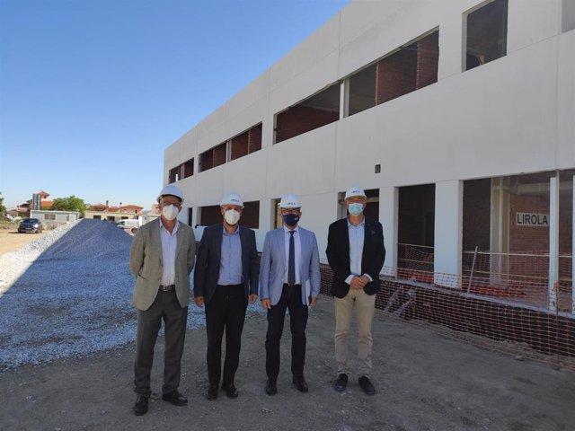 Visita de la Junta al colegio Francisco Ayala