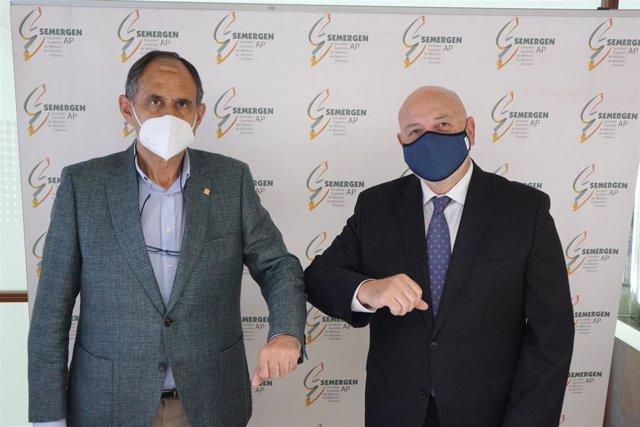 De izq a dcha. Dr. José Polo y José Luis Casteig