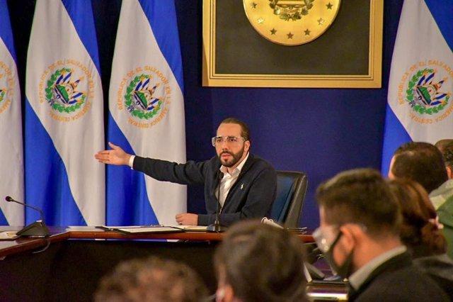 Archivo - Recurso - Presidente de El Salvador, Nayib Bukele