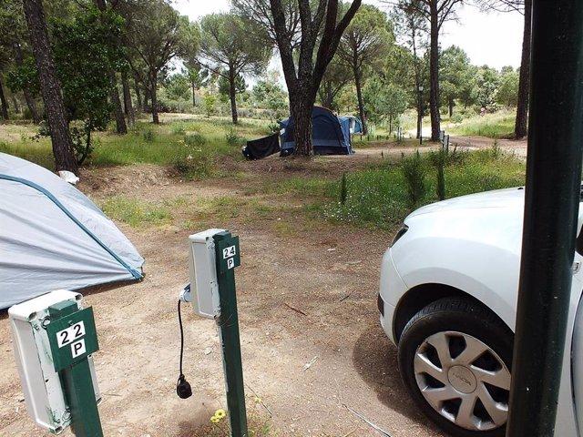 La nueva 'Zona Campers' del Camping de Los Villares.