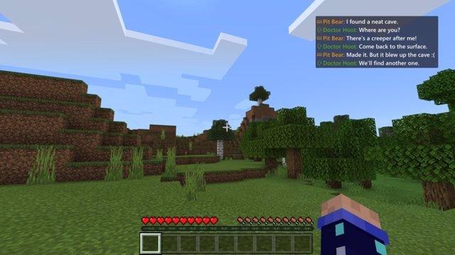 Imagen de Minecraft en Xbox.