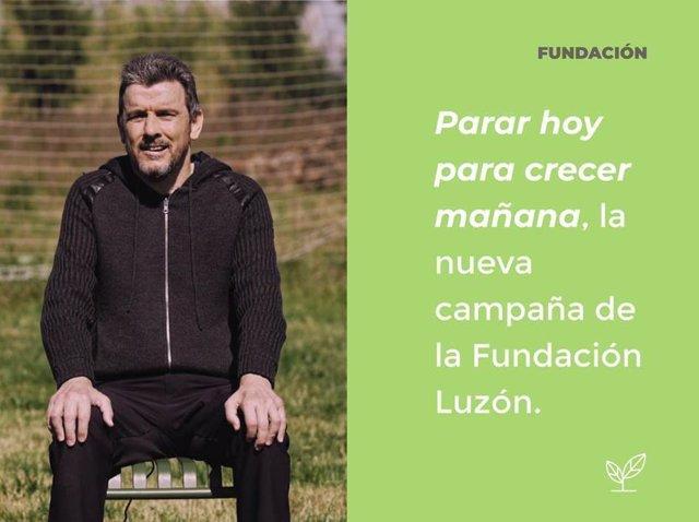 El exportero de fútbol Juan Carlos Unzué, afectado de ELA, es el abanderado de la nueva campaña de la Fundación Luzón.