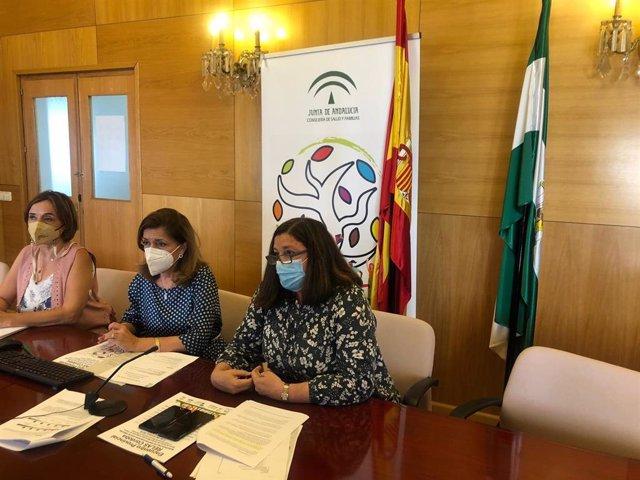 La delegada de Salud y Familias de la Junta de Andalucía en Córdoba, María Jesús Botella (centro), en la reunión con los municipios de la provincia que van a adherirse al proyecto Relas.