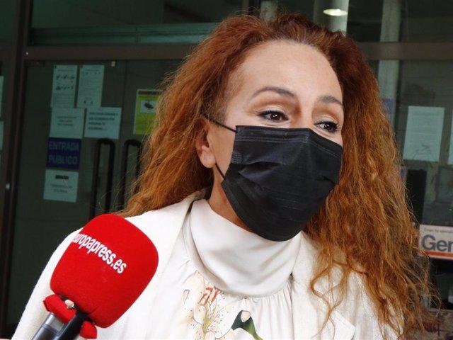 Rocío Carrasco, cuando acudió a declarar hace unos días por la demanda de Antonio David Flores por impago de la pensióne
