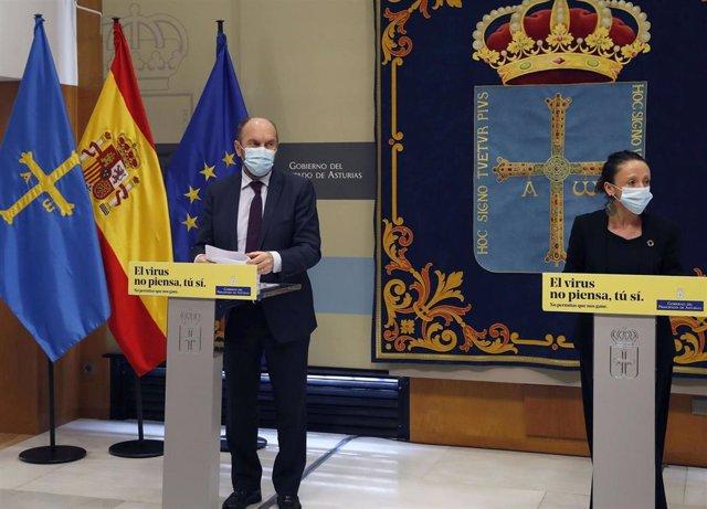 La consejera de Derechos Sociales y Bienestar y portavoz del Gobierno, Melania Álvarez, informa en rueda de prensa sobre los acuerdos adoptados en la reunión del Consejo de Gobierno.