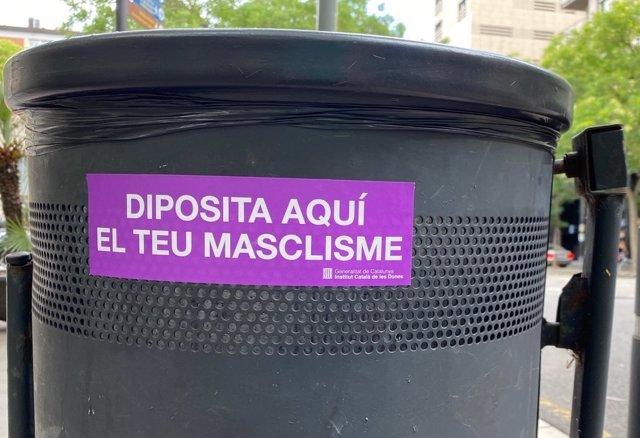 Archivo - Arxiu - Campanya de sensibilització de l'Institut Català de les Dones contra el masclisme.