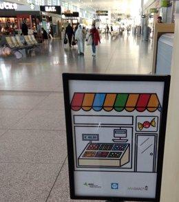 Pictogramas en el aeropuerto de Málaga Costa del Sol