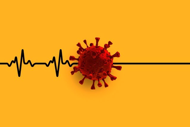 Archivo - Coronavirus, covid, corazón.