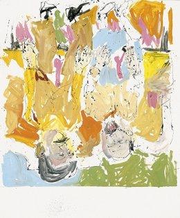 Archivo - Lucian y Frank al aire libre, de Georg Baselitz.