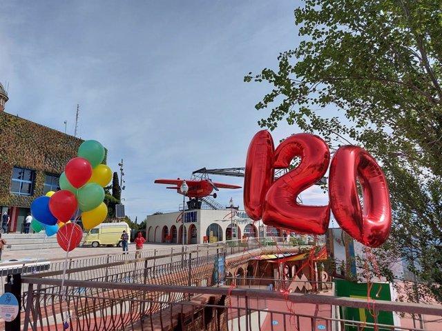 El parc d'atraccions Tibidabo de Barcelona