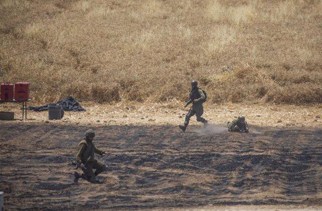 Militars israelians a la frontera amb Gaza