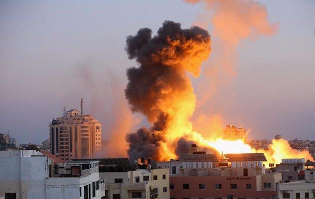 Imatge d'arxiu d'atacs israelians a Gaza