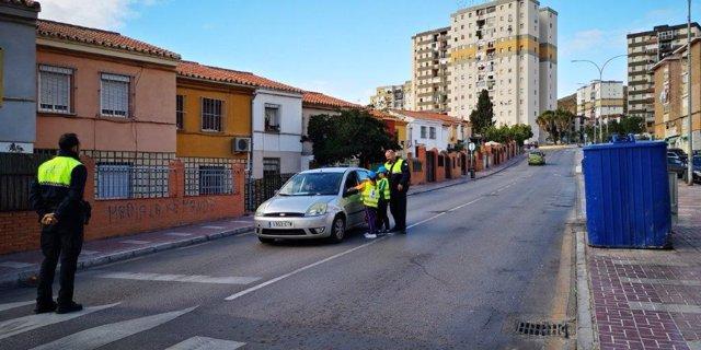 Archivo - Campaña de educación vial en Málaga, en una imagen de archivo