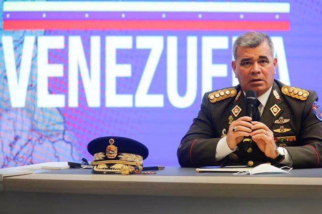 Archivo - El ministro de Defensa venezolano, Vladimir Padrino López